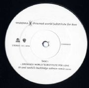 DROWNED WORLD / SUBSTITUTE FOR LOVE - UK PROMO ONLY 12""